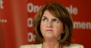 Minister for Social Protection Joan Burton said she was taken aback by the news that emerged about the Central Remedial Clinic yesterday. Photograph: Dara Mac Dónaill.