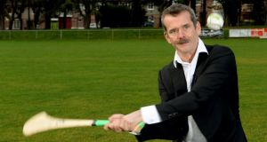 Global hit: Chris Hadfield gives hurling a lash. Photograph: David Sleator