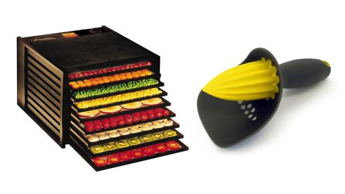 Excalibur 9 Tray Dehydrator, €339, juicers.ie Citrus reamer, €13.95, Joseph Joseph at Debenhams