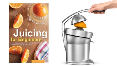 'Juicing for beginners', €5.49, Easons Sage Citrus Press, €249, Harvey Norman