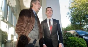 Oscar-winning actor Jeremy Irons and world champion walker Rob Heffernan at the Cork Person of the Year awards. Photograph: Daragh McSweeney/Provision