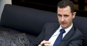 Syrian president Bashar al-Assad:  issue of stepping down will not be discussed at peace conference. Photograph: AFP/Getty Images