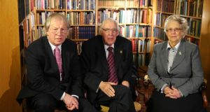 Eamonn Mallie with Ian Paisley and his wife Eileen Paisley. Dr Paisley (now Lord Bannside) disclosed how neither he nor his family attend the Free Presbyterian Church anymore.