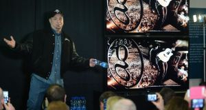 Garth Brooks at Croke Park yesterday where it was announced he will play two concerts in July. Photographer: Dara MacDónaill/The Irish Times