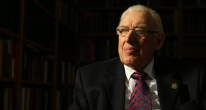 Former Democratic Unionist leader Ian Paisley (87), who has levelled a series of  allegations against current senior figures in the party, claiming they plotted his downfall. Photograph: BBC NI/PA