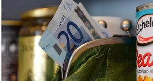 Grocery bills went up by an average of €17 in the three months from September to December. Photograph: Bryan O'Brien
