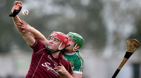 Walsh Cup quarter-finals: At  O'Connor Park, Tullamore, Galway beat Offaly 1-14 to 1-13. Kilkenny beat DIT 5-23 to 1-9 and Wexford easily dispatched NUIG 4-21 to 0-8. Dublin's clash with UCD was postponed and will now be played on Tuesday night.  Offaly's Brian Watkins and Galway's Jonathan Glynn compete for the sliotar. Photograph:  Inpho/Ryan Byrne