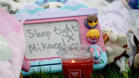 Tributes to Mikaeel Kular  in Edinburgh,Scotland. Photograph: Jeff J Mitchell/Getty Images