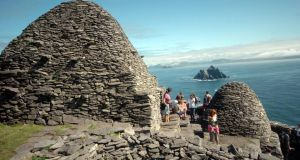 A view off Skellig Michael  in Co Kerry. Skellig Michael and  Brú na Bóinne, Co Meath, are designated by UNESCO as a World Heritage sites. Minister for  Heritage Jimmy Deenihan has warned the number of World Heritage sites will not expand unless the objections of landowners can be overcome. Photograph:   Don MacMonagle
