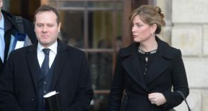 David and Roberta Dodd outside the High Court yesterday. Photograph: Dara Mac Dónaill