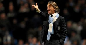 Former Man City manager Roberto Mancini. Photograph:  Martin Rickett/PA Wire
