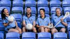 Dublin players Sinead Goldrick (football), Philly McMahon, Ali Twomey (camogie) and David O'Callaghan  (hurling) model the  county's new AIG-sponsored jersey at official launch of the the Dublin GAA season at Parnell Park yesterday. Photo: Stephen McCarthy/Sportsfile