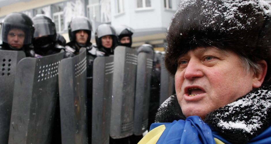 Clashes in Kiev amid protests