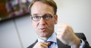 "Jens Weidmann:  ""I assume that Ireland, now out of the programme, will be able to meet its commitments without any external assistance."" Photograph: Kai Pfaffenbach/Reuters"