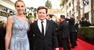 Michael J Fox at Tracy Pollan at  the   Golden Globe Awards earlier this month. Despite a diagnosis of Parkinson's at the age of 29, Fox believed that whatever happened, he'd be able to deal with it. Photograph: Christopher Polk/NBC