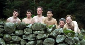 Michael Legge, Hugh O'Conor, Peter McDonald, Andrew Scott, Andrew Bennett and Brian Gleeson in 'The Stag'
