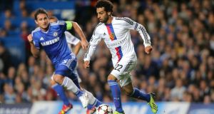 Mohamed Salah (right) is set to  join  Chelsea after a fee was agreed with FC Basel. Photograph: Nick Potts/PA Wire