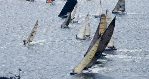 Plans to attract new entries from overseas and give the Round Ireland Race a higher international profile were announced by Wicklow Sailing Club in Dun Laoghaire  yesterday  and included details of the southside port being  used as a technical base for larger yachts. Photograph: David Branigan/Oceansport