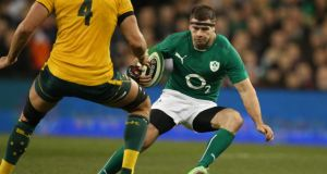With Keith Earls and Tommy  Bowe ruled out, opportunity knocks for Fergus McFadden. Photograph: Billy Stickland/Inpho