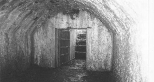 View of Sing Sing, a vault at Kilquane Cemetery, Knockraha, Co Cork, used by the IRA for holding prisoners during the War of Independence. Photograph:  Gerard Murphy