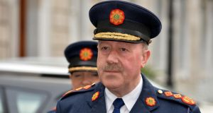 Garda Commissioner Martin Callinan arriving in Leinster House yesterday to attend the sitting of the Public Accounts Committee. Photograph: David Sleator