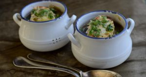 Meaty French onion soup
