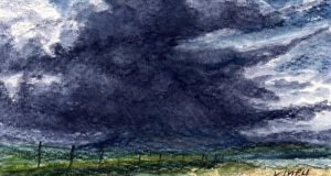 The thundercloud: something we could learn to dread. Illustration: Michael Viney