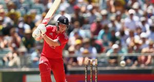 England's Ben Stokes  bats during game four of the One-Day International series against Australia at the Waca in Perth. Photograph: Robert Cianflone/Getty Images