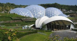 The Eden Project near St Austell, Cornwall. Photograph: ConstructionSkills/PA.