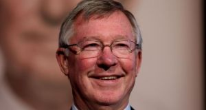 Alex Ferguson was today confirmed as Uefa's new coaching ambassador. Photograph: Brian Lawless/PA