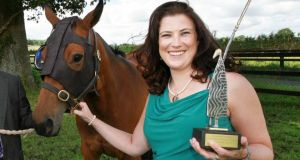 Dr Barbara Murphy, UCD, inventor of the Equilume light mask for Thoroughbred horses.