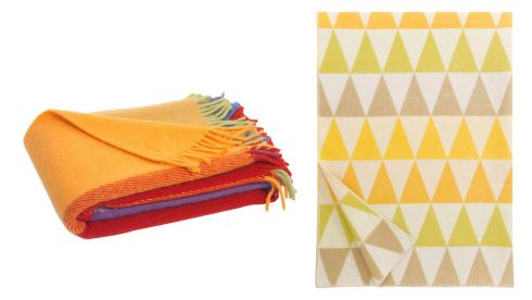 Colourful throw, €94.12, Jodie Byrne at notonthehighstreet.com  Harlekiini throw, €101.64, heals.co.uk