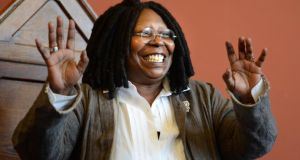 Whoopi Goldberg, who is the face of a brand of adult nappies in the US, during a visit to Trinity College Dublin in 2012. Photograph: Dara Mac Dónaill