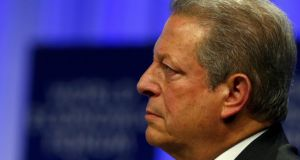 Former US vice-president Al Gore attends a session at the annual meeting of the World Economic Forum in Davos. Photograph: Denis Balibouse/Reuters