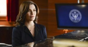 'The title character's goodness is only relative to the more explicitly debauched characters that pass through.' Julian Margulies as Alicia Florrick in The Good Wife