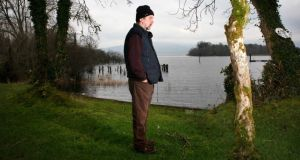 Michael Harding at Lough Allen, Co Leitrim. Photograph: Brian Farrell