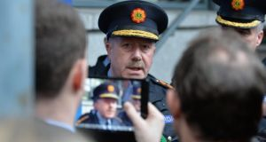 When asked at a press conference in Dundalk, Co Louth, this evening if he planned to go to the courts for an injunction aimed at stopping a whistleblower appearing before the Public Accounts Committee  next week, Garda Commissioner Martin Callinan  declined to outline any possible actions on his part. Photograph: Alan Betson/The Irish Times