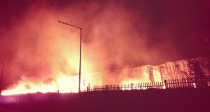 The fire was reported at about 3.15am. Photograph: Kevin Moore/@KMoorzey