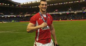 Sam Warburton  has become the first Wales player to sign a central contract with the Welsh Rugby Union. Photograph: David Davies/PA
