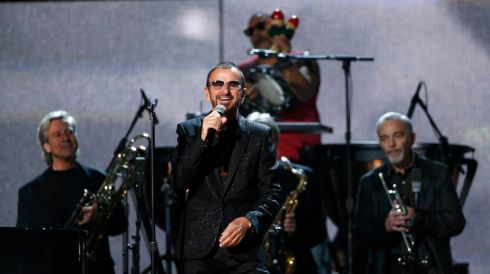 Ringo Starr performs Photograph. Photograph: Mario Anzuoni/Reuters