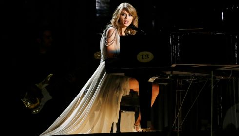 Taylor Swift performs All Too Well. Photograph: Mario Anzuoni/Reuters