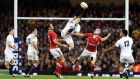 England's Alex Goode and Jamie Roberts of Wales in last March's game at the Millennium Stadium. Photograph: Dan Sheridan/Inpho