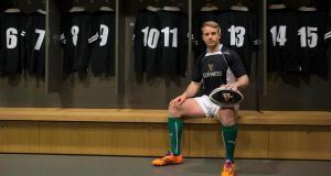 Luke Fitzgerald at the launch of the Guinness Plus App yesterday in the Aviva Stadium. Photograph: Billy Stickland/Inpho