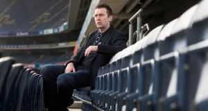 Former Armagh footballer Oisín McConville at the launch of the GAA/GPA Gambling Guidelines at Croke Park. Photograph: Cathal Noonan/Inpho