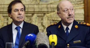 Minister for Justice Alan Shatter and Garda Commissioner Martin Callinan, pictured last year. The commissioner yesterday welcomed the Minister's intervention.