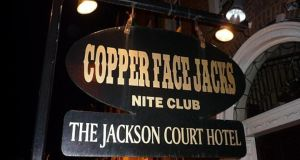 One person is in a critical condition in hospital and six others were injured in what is being described as a crush outside Copper Face Jacks in Dublin last night.