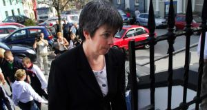 File photograph of Louise O'Keeffe  arriving at Bandon circuit court, Co. Cork in 2007. Photograph: Provision