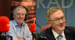 Red corner, blue corner: Pat Kenny of Newstalk, and Seán O'Rourke of RTÉ