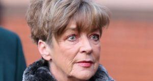 Coronation Street actress Anne Kirkbride arrives at Preston Crown Court ahead of giving evidence in the trial of William Roache today in Preston, Lancashire. Photograph:  Christopher Furlong/Getty Images