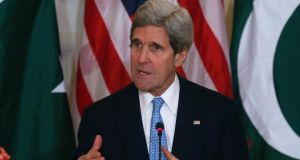 John Kerry is expected to  present Israel and the Palestinians with a framework agreement which will enable peace talks between the sides to continue for another year. Photograph: Reuters
